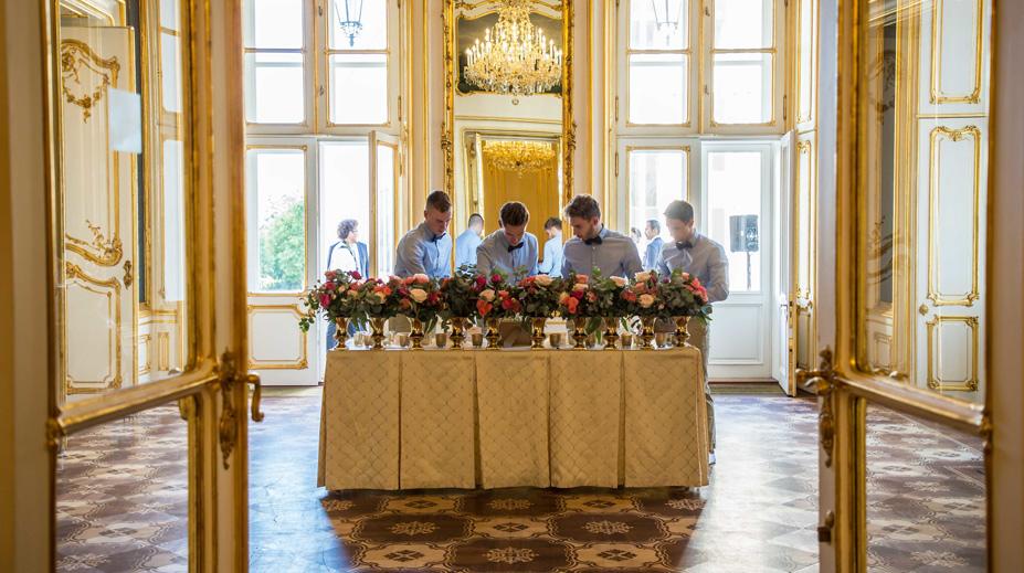 hochzeit escortcards im palais coburg wien