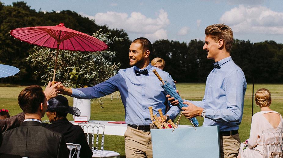 hochzeitszeremonie mit den wedding stewards